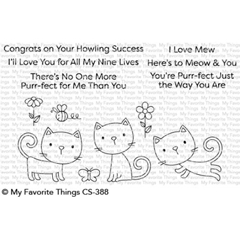 My Favorite Things PURR-FECT Clear Stamps CS388