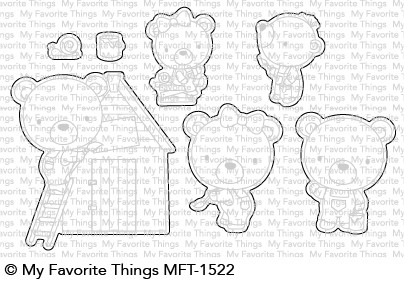 My Favorite Things BUILDER BEARS Die-Namics MFT1522 Preview Image