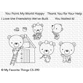 My Favorite Things BUILDER BEARS Clear Stamps CS390