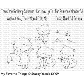 My Favorite Things FRIENDLY FOXES Clear Stamps SY09