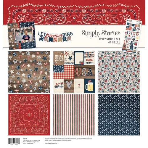 Simple Stories LET FREEDOM RING 12 x 12 Collection Kit 10714 Preview Image