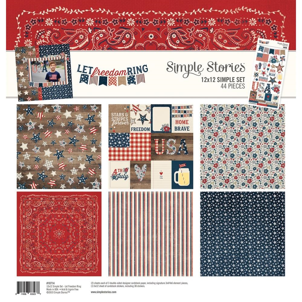 Simple Stories LET FREEDOM RING 12 x 12 Collection Kit 10714 zoom image