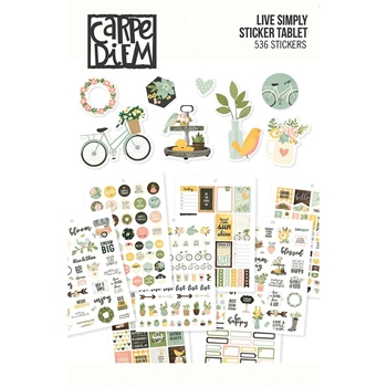 Simple Stories LIVE SIMPLY Carpe Diem A5 Sticker Tablet 10759