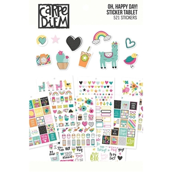 Simple Stories OH HAPPY DAY Carpe Diem A5 Sticker Tablet 10760
