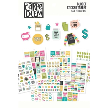 Simple Stories BUDGET Carpe Diem A5 Sticker Tablet 10769