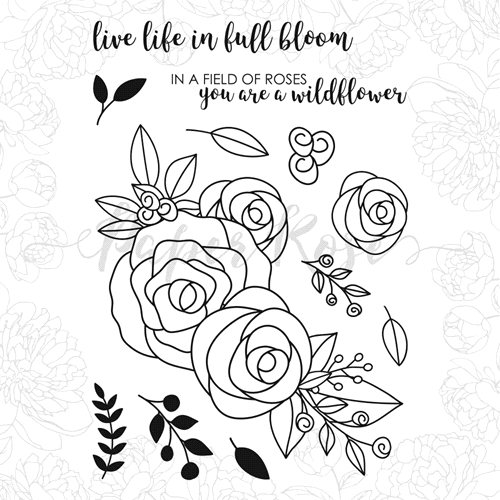 Paper Rose ELLA'S GARDEN ROSE BOUQUET Clear Stamps 17967 Preview Image