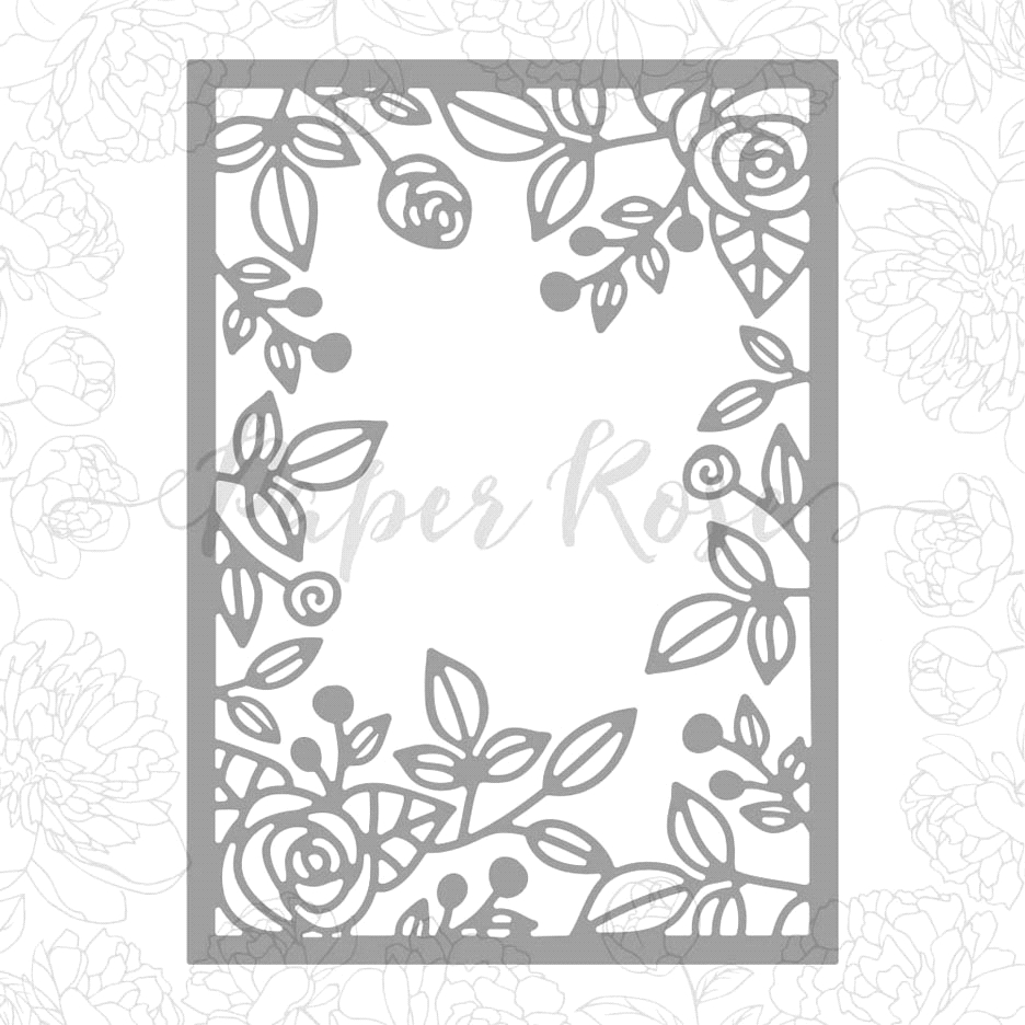 Paper Rose ROSE FRAME BACKGROUND Craft Dies 17958 zoom image