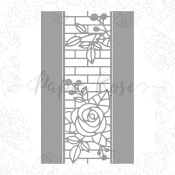 Paper Rose ELLA'S GARDEN ROSE AND BRICK BORDER Craft Dies 17961