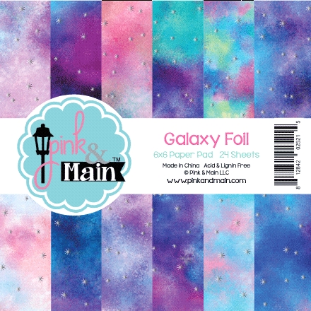 Pink and Main Galaxy Foil 6x6 Paper Pack