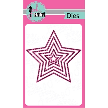 Pink and Main STITCHED STARS Dies PNM209