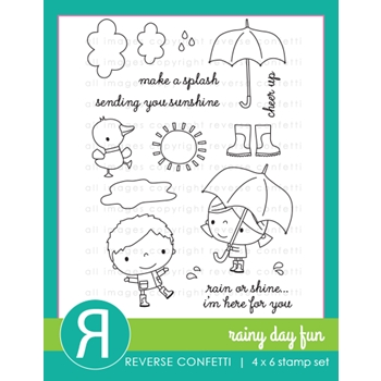 Reverse Confetti RAINY DAY FUN Clear Stamps