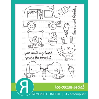 Reverse Confetti ICE CREAM SOCIAL Clear Stamps