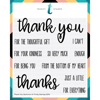 Trinity Stamps THANK YOU SENTI Mini Clear Stamp Set 658049