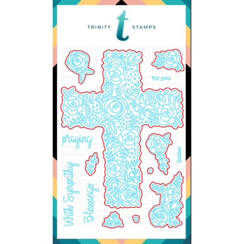 Trinity Stamps FLORAL CROSS Die Set 909042 Preview Image