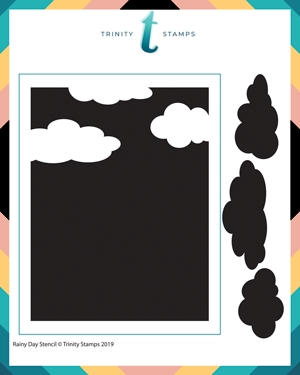 Trinity Stamps CLOUDY DAY 6 x 6 Stencil 482979 Preview Image