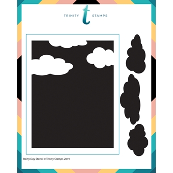 Trinity Stamps CLOUDY DAY 6 x 6 Stencil 482979