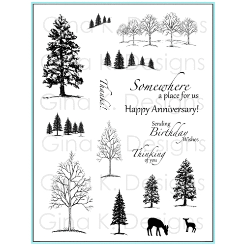 Gina K Designs THE NORTHWOODS 1 Clear Stamps 5874 Preview Image