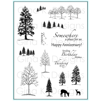 Gina K Designs THE NORTHWOODS 1 Clear Stamps 5874