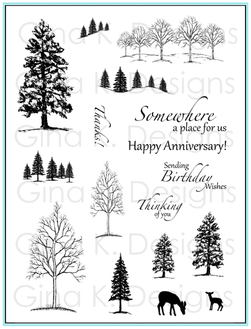 Gina K Designs THE NORTHWOODS 1 Clear Stamps 5874 zoom image