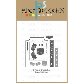 Paper Smooches DRESS SHIRT Wise Dies M2D438