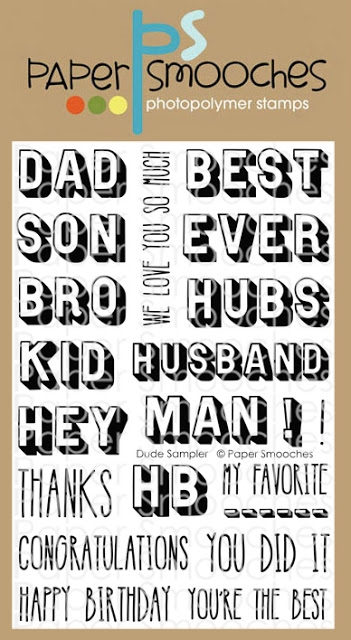 Paper Smooches DUDE SAMPLER Clear Stamps M2S306* zoom image