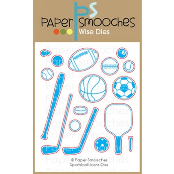 Paper Smooches SPORTSBALL ICONS Wise Dies M2D440