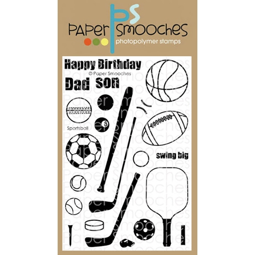 Paper Smooches SPORTSBALL Clear Stamps M2S307 Preview Image