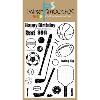 Paper Smooches SPORTSBALL Clear Stamps M2S307