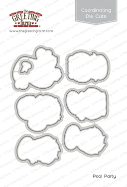 The Greeting Farm POOL PARTY Coordinating Die Cuts TGF488 zoom image