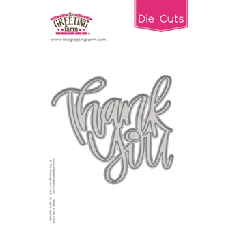 The Greeting Farm THANK YOU Word Die TGF490