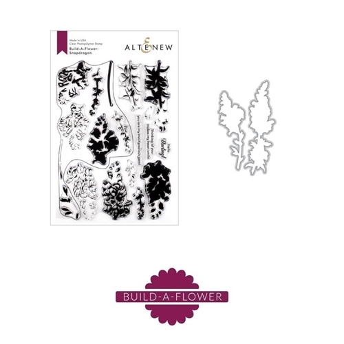 Altenew BUILD A FLOWER SNAPDRAGON Clear Stamp and Die Set ALT3285 Preview Image