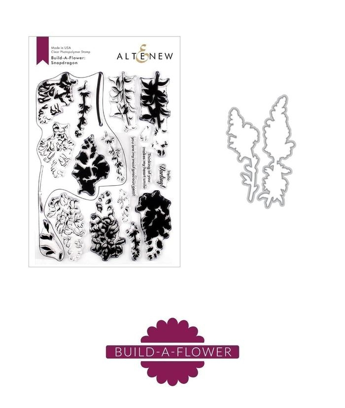 Altenew BUILD A FLOWER SNAPDRAGON Clear Stamp and Die Set ALT3285 zoom image