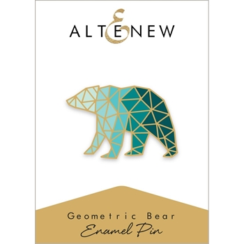 Altenew GEOMETRIC BEAR Enamel Pin ALT2567