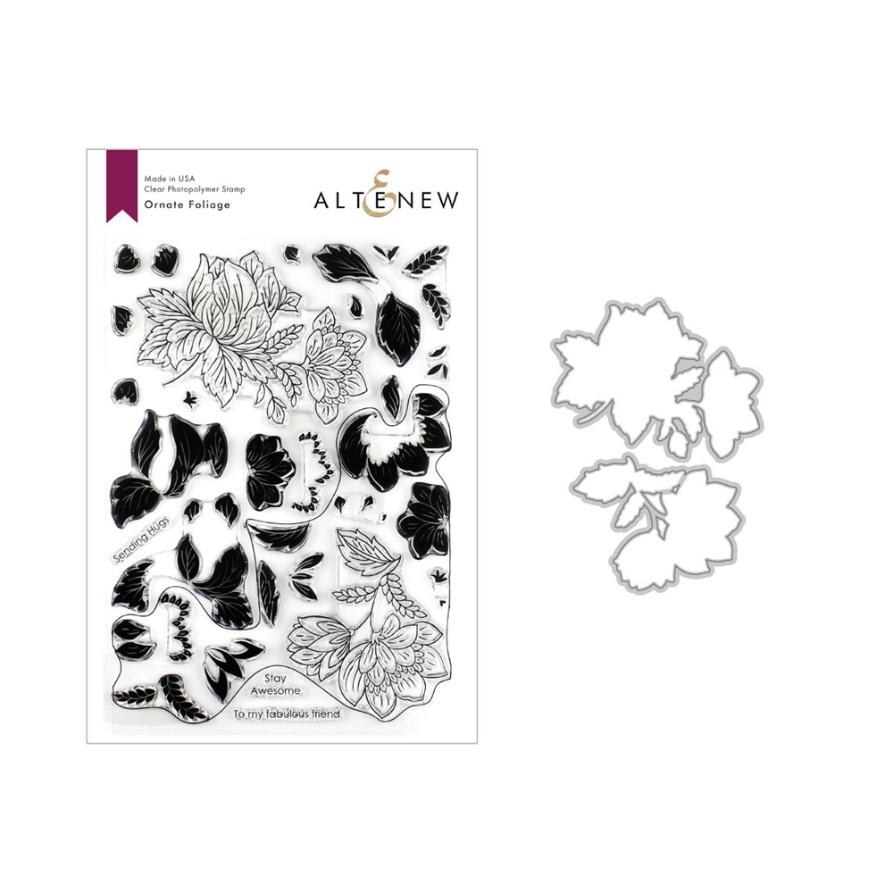 Altenew ORNATE FOLIAGE Clear Stamp and Die Bundle ALT3268 zoom image
