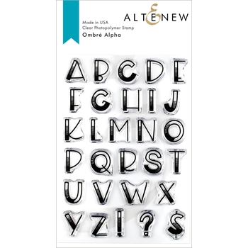 Altenew OMBRE ALPHA Clear Stamps ALT3265