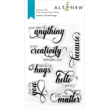 Altenew FANCY GREETINGS Clear Stamps ALT3264