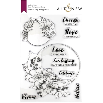 Altenew EVERLASTING HAPPINESS Clear Stamps ALT3263