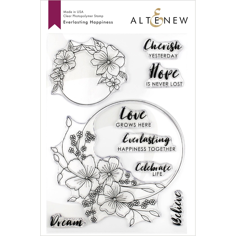 Altenew EVERLASTING HAPPINESS Clear Stamps ALT3263 zoom image