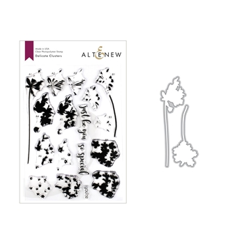 Altenew DELICATE CLUSTERS Clear Stamp and Die Bundle ALT3262
