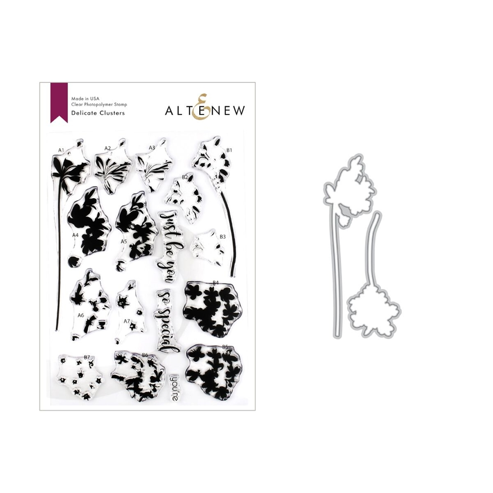 Altenew DELICATE CLUSTERS Clear Stamp and Die Bundle ALT3262 zoom image