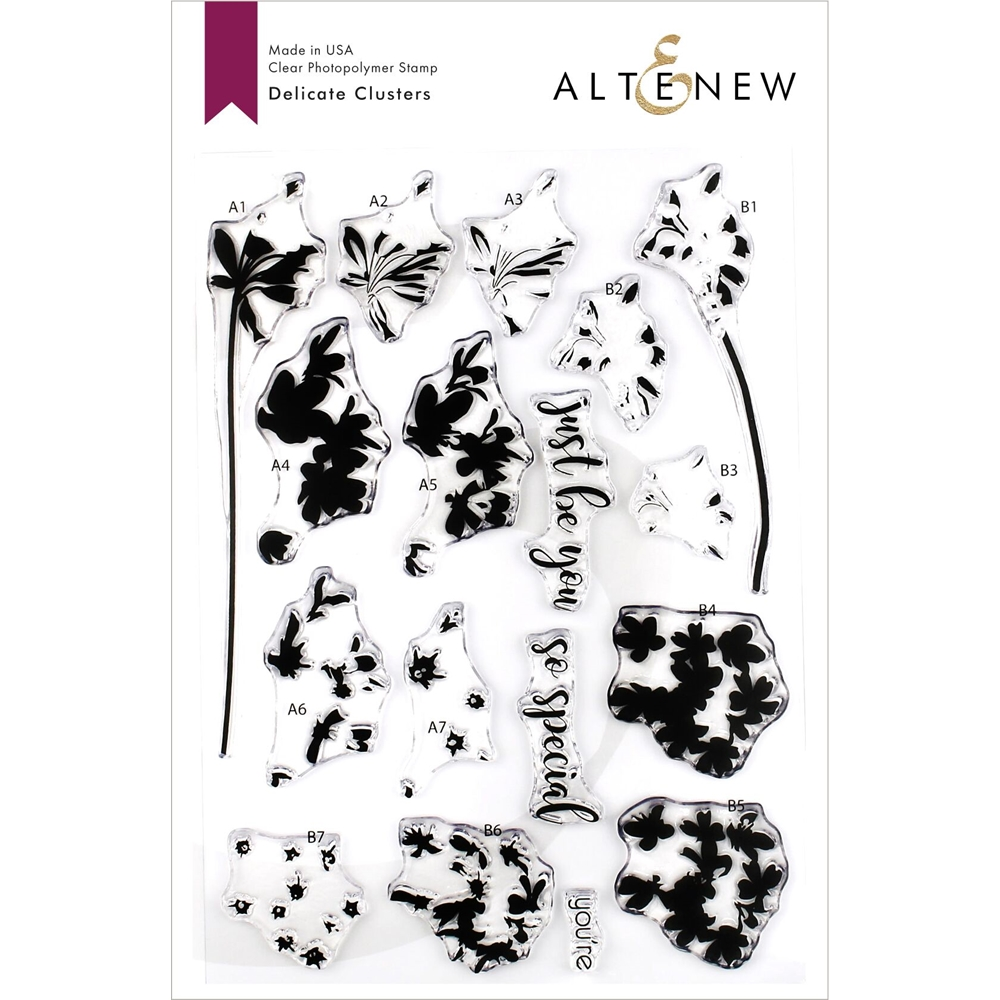 Altenew DELICATE CLUSTERS Clear Stamps ALT3260 zoom image