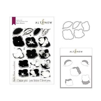 Altenew BASIC BLOOMS Clear Stamp, Die and Stencil Bundle ALT3258