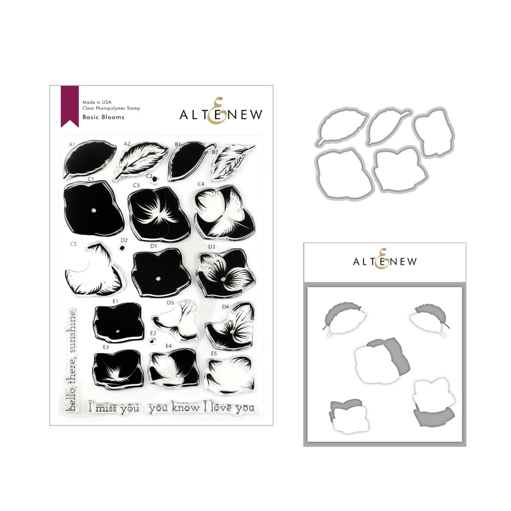 Altenew BASIC BLOOMS Clear Stamp, Die and Stencil Bundle ALT3258 zoom image