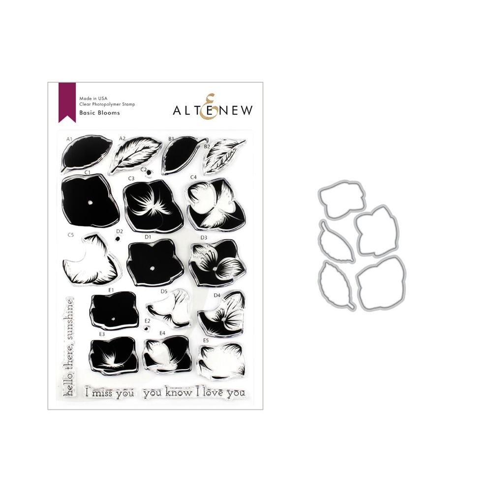 Altenew BASIC BLOOMS Clear Stamp and Die Bundle ALT3257 zoom image