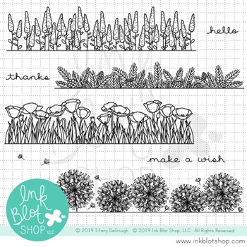 Ink Blot Shop Clear Stamp Set BOTANICAL BORDERS 2 inbl068