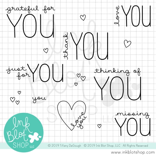 Ink Blot Shop Clear Stamp Set GREETINGS TO YOU inbl067 Preview Image
