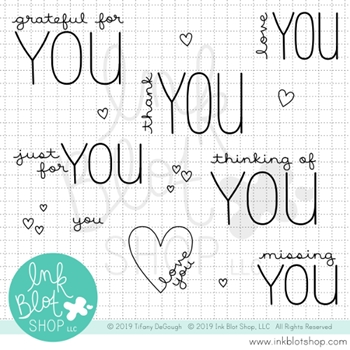 Ink Blot Shop Clear Stamp Set GREETINGS TO YOU inbl067