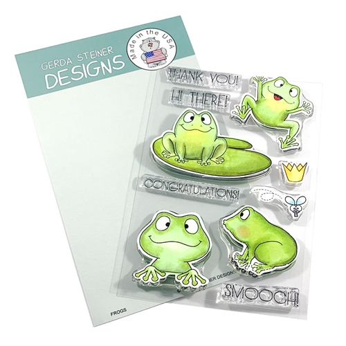 Gerda Steiner Designs FROGS Clear Stamp Set gsd685 Preview Image