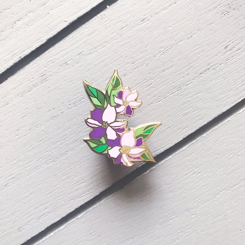 The Gray Muse PURPLE FLOWERS FOR HER Enamel Pin tgm-m19-p17 Preview Image