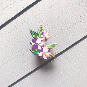 The Gray Muse PURPLE FLOWERS FOR HER Enamel Pin tgm-m19-p17
